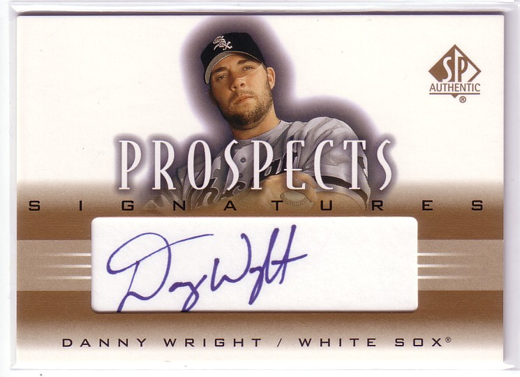 2002 SP Authentic Prospects Signatures #PDW Danny Wright