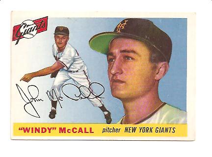 1955 Topps #42 John (Windy) McCall RC