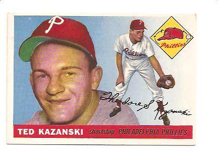 1955 Topps #46 Ted Kazanski