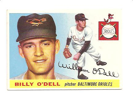 1955 Topps #57 Billy O'Dell RC