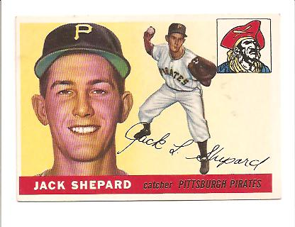 1955 Topps #73 Jack Shepard RC