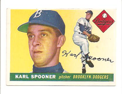1955 Topps #90 Karl Spooner RC