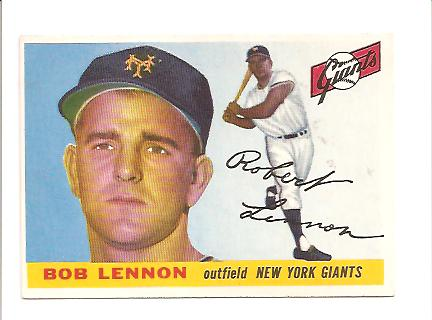 1955 Topps #119 Bob Lennon RC
