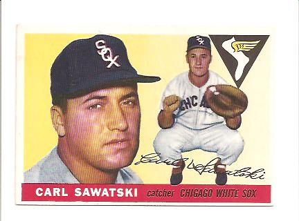 1955 Topps #122 Carl Sawatski