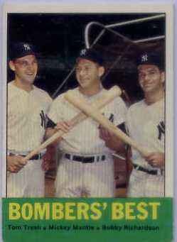 1963 Topps #173 Bomber's Best/Tom Tresh/Mickey Mantle/Bobby Richardson