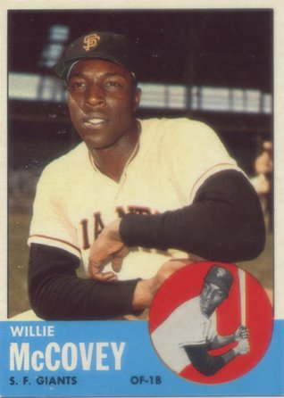 1963 Topps #490 Willie McCovey