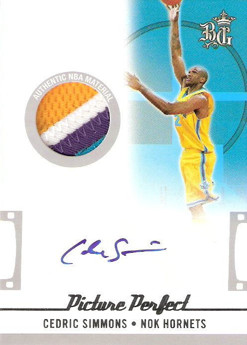 2006-07 Topps Big Game Picture Perfect Patches Autographs #CS Cedric Simmons