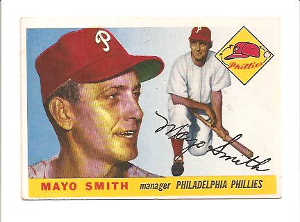 1955 Topps #130 Mayo Smith MG RC