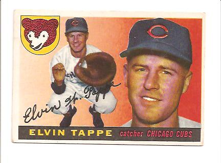 1955 Topps #129 Elvin Tappe EX Actual scan