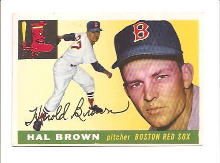 1955 Topps #148 Hector Brown EXMT Actual scan