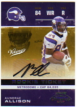 2007 Playoff Contenders #111 Aundrae Allison AU RC