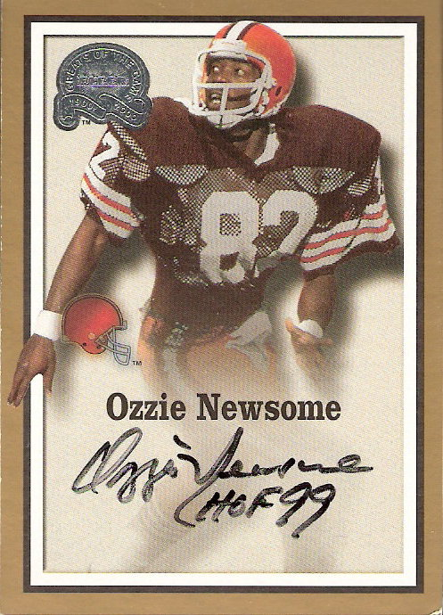 2000 Greats of the Game Gold Border Autographs #60 Ozzie Newsome