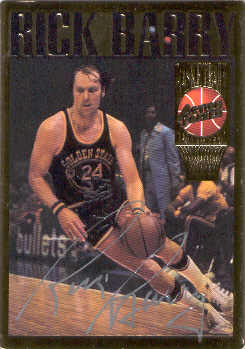 1995 Action Packed Hall of Fame Autographs #5 Rick Barry