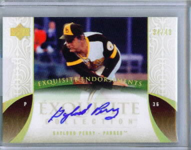 2006 Exquisite Collection Endorsements #GP Gaylord Perry