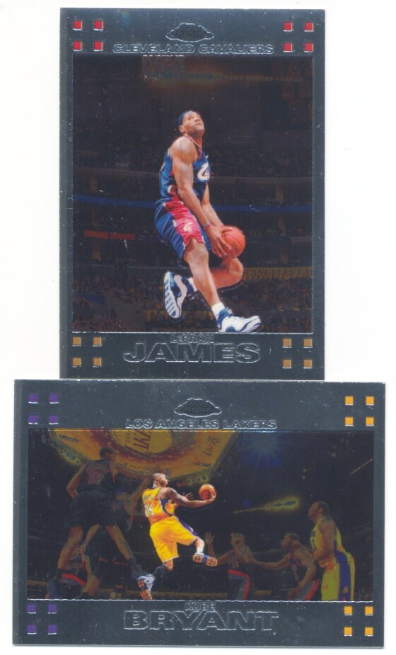 This is the base card (1-110) set for 2007-08 Topps Chrome Basketball