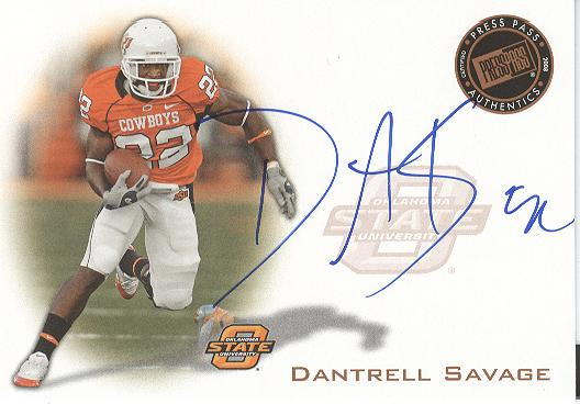 2008 Press Pass Autographs Bronze #PPSDS Dantrell Savage
