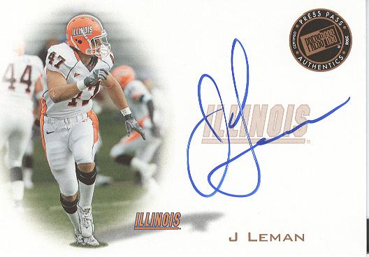 2008 Press Pass Autographs Bronze #PPSJL J Leman