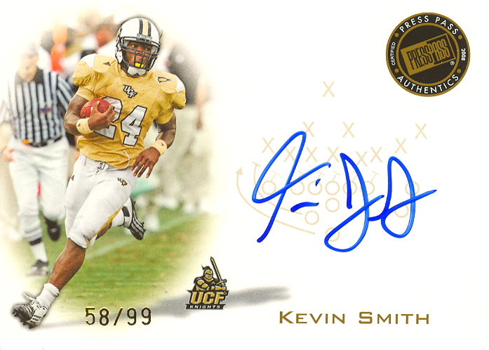 2008 Press Pass Autographs Gold #PPSKS Kevin Smith