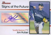 2008 Bowman Signs of the Future #JHU Jon Huber