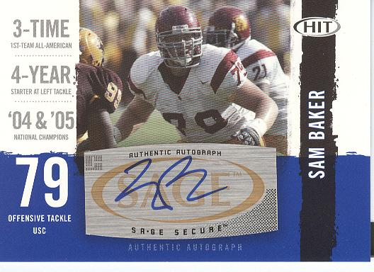 2008 SAGE HIT Autographs #A15 Sam Baker