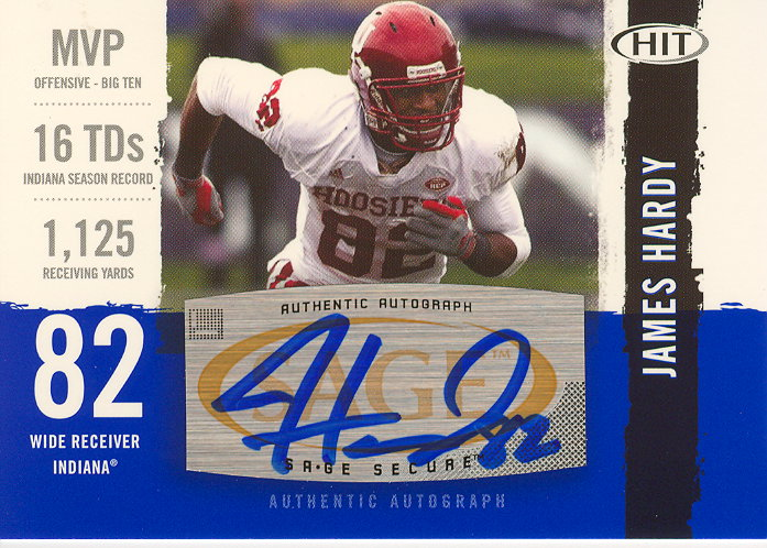 2008 SAGE HIT Autographs #A28 James Hardy