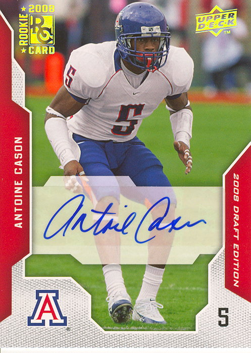 2008 Upper Deck Draft Edition Autographs #6 Antoine Cason