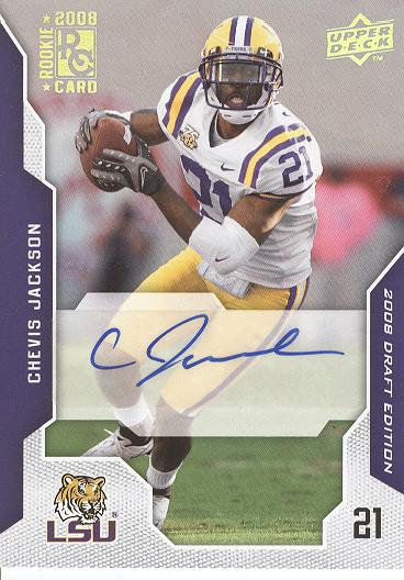 2008 Upper Deck Draft Edition Autographs #13 Chevis Jackson