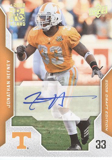 2008 Upper Deck Draft Edition Autographs #53 Jonathan Hefney