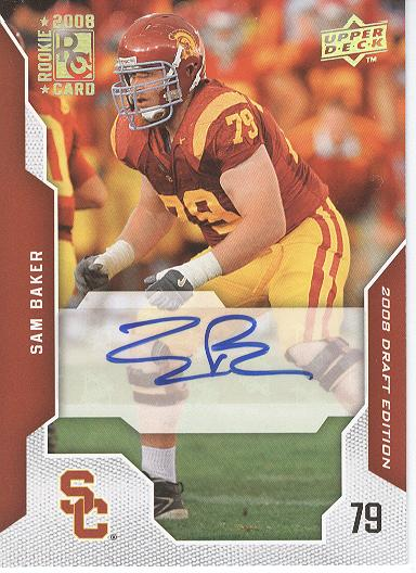 2008 Upper Deck Draft Edition Autographs #88 Sam Baker