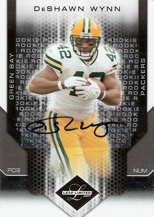 2007 Leaf Limited #285 DeShawn Wynn AU RC