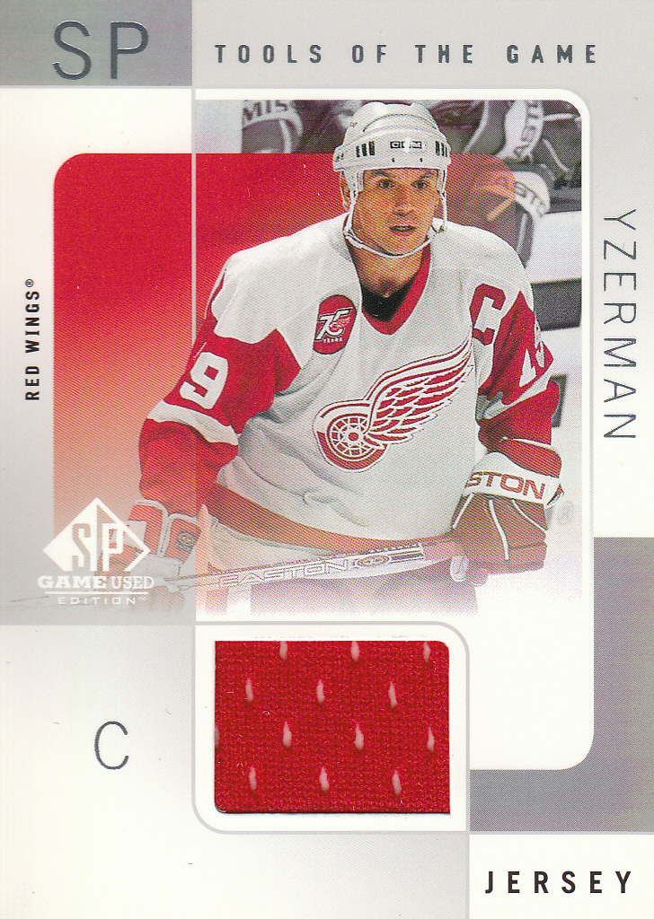 2000-01 SP Game Used Tools of the Game #SY Steve Yzerman