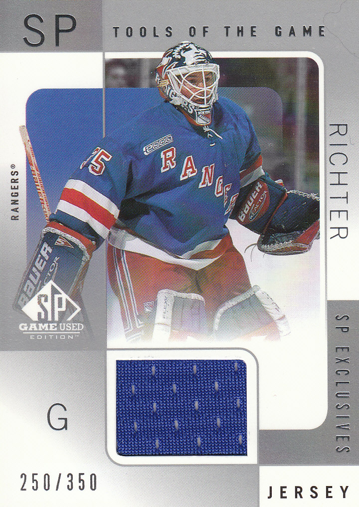 2000-01 SP Game Used Tools of the Game Exclusives #MR Mike Richter