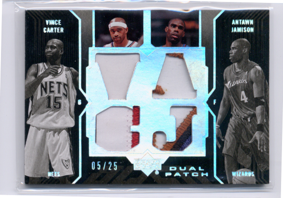 2006-07 UD Black Patches Dual #CJ Vince Carter/Antawn Jamison