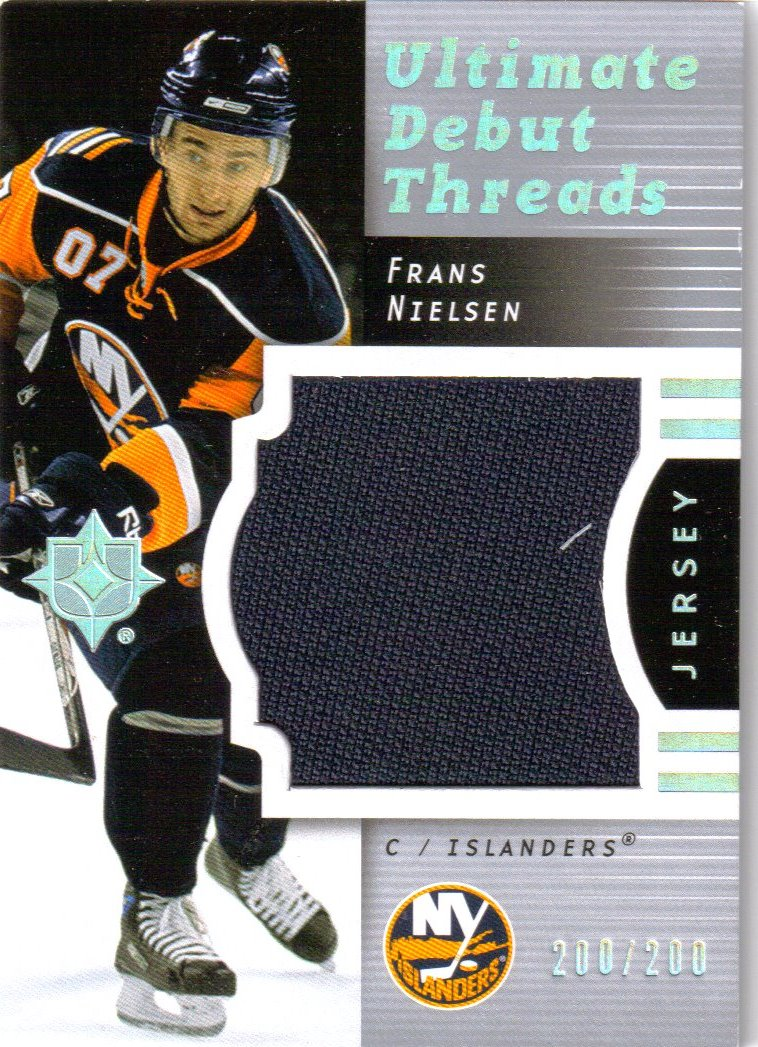 2007-08 Ultimate Collection Ultimate Debut Threads Jerseys #DTFN Frans Nielsen