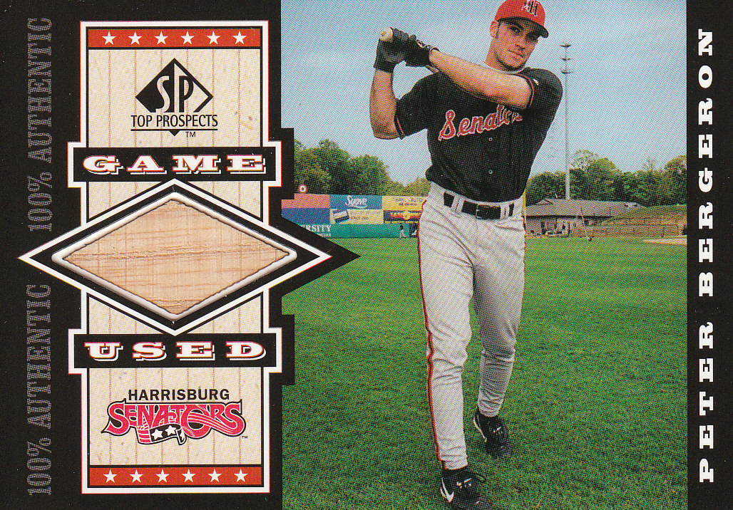 2000 SP Top Prospects Game Used Bats #GPB Peter Bergeron