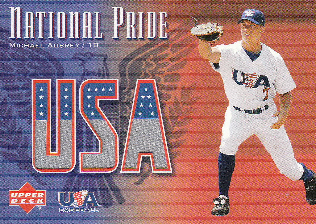2003 Upper Deck National Pride Memorabilia #MA Michael Aubrey