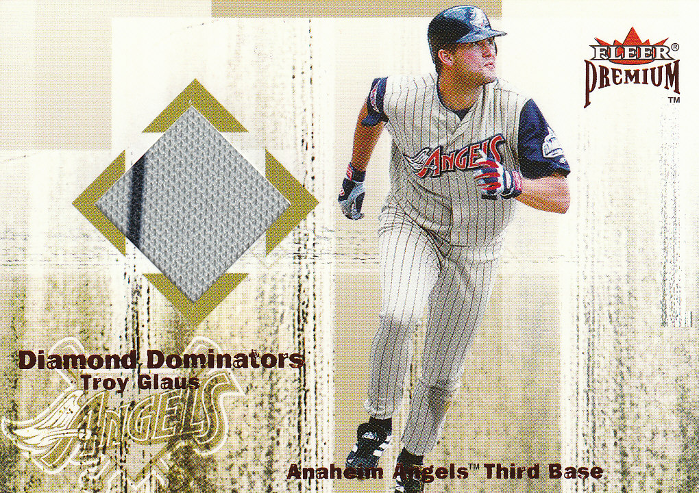 2001 Fleer Premium Diamond Dominators Game Jersey #DD1 Troy Glaus