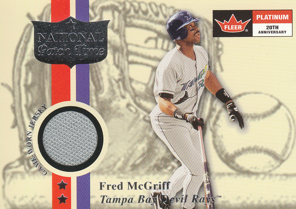 2001 Fleer Platinum National Patch Time #36 Fred McGriff S1