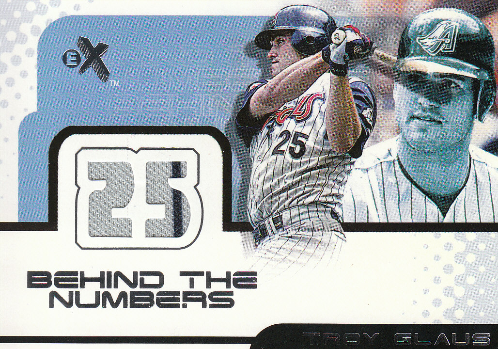 2001 E-X Behind the Numbers Game Jersey #BH29 Troy Glaus