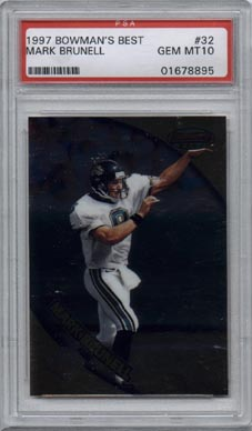 1997 Bowman's Best Football #32 Mark Brunell PSA Gem Mint 10 Jacksonville JAGUARS AWESOME!!