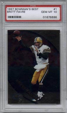 1997 Bowman's Best Football #1 Brett Favre Gem Mint PSA 10 AWESOME!!