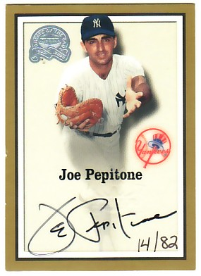 2000 Greats of the Game Autographs #61 Joe Pepitone