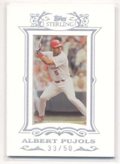 2007 Topps Sterling Framed White Suede #169 Albert Pujols