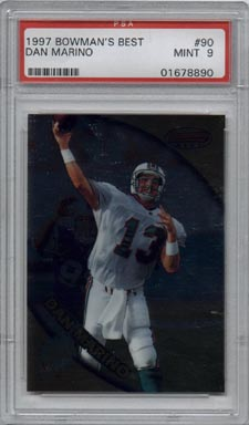 1997 Bowman's Best Football #90 Dan Marino Mint PSA 9 Miami DOLPHINS QB AWESOME!!