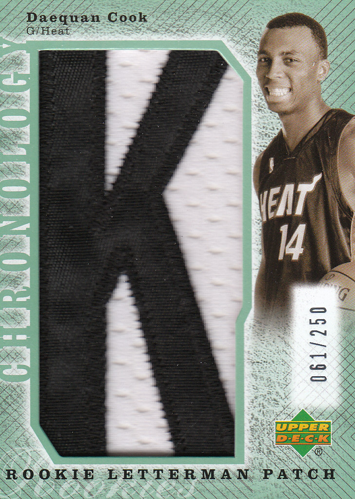 2006-07 Chronology #267 Daequan Cook XRC