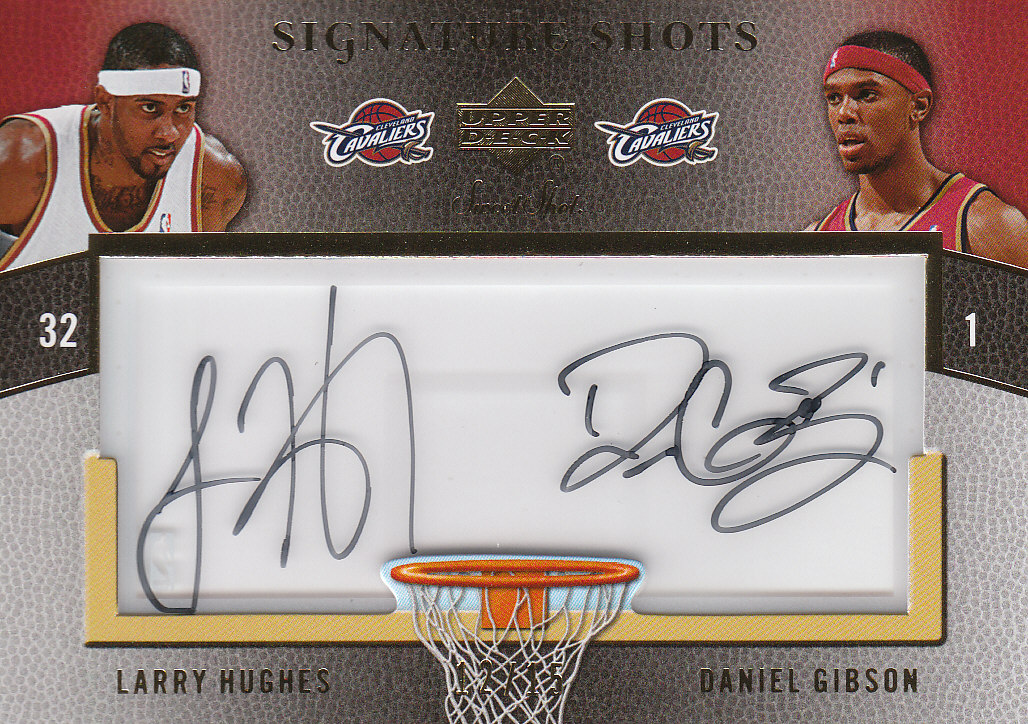 2007-08 Sweet Shot Signature Shots Acetate Dual #HG Larry Hughes/Daniel Gibson