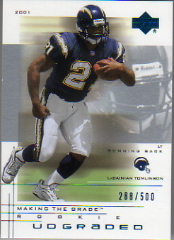 2001 UD Graded #53 LaDainian Tomlinson Act RC