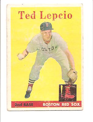 1958 Ted Lepcio #29 VG Actual scan