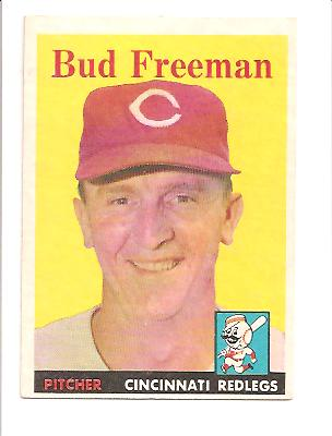 1958 Topps #27 Bud Freeman EXMT Actual scan