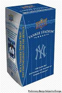 2008 Upper Deck New York Yankee Baseball Stadium Legacy Factory Sealed 100 Card Box Set Has Roger Maris, Derek Jeter, Alex Rodriguez, Yogi Berra & Many Others - In Stock Now  front image